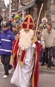 Saint NIcolas visits neighborhoods