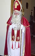 Sinterklaas appears at the reception