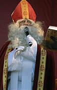 Sinterklaas addresses children and adults
