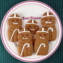 St Nicholas Cookie Cutter Cookies