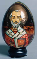 Wood egg with icon image