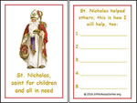 St Nicholas Helper Card