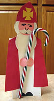 St Nicholas candy cane holder