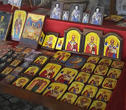 Stall with Nicholas icons